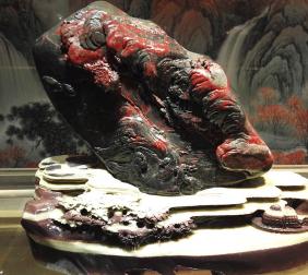 朱砂石雕件收藏